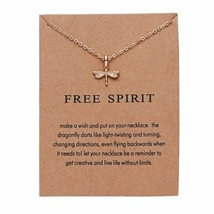 Jewelry - Dragonfly free spirit carded necklace